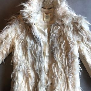 Miss Sixty Fluffy White Wookie Coat